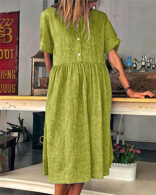 Solid Casual Daily Fashion Mini Dresses