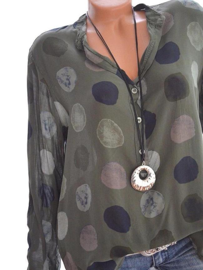Casual Polka Dot Women's Shirts