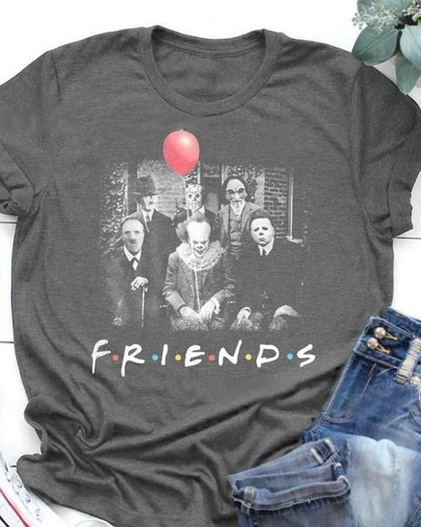 Friends Printed Women Daily T Shirts Tops
