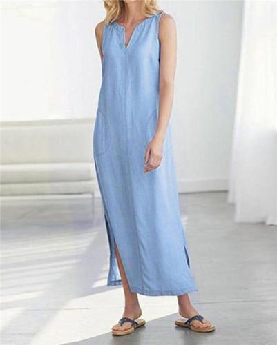 Solid Holiday Daily Fashion Maxi Dresses