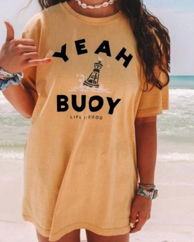 Loose Simple Printed Casual T-Shirts