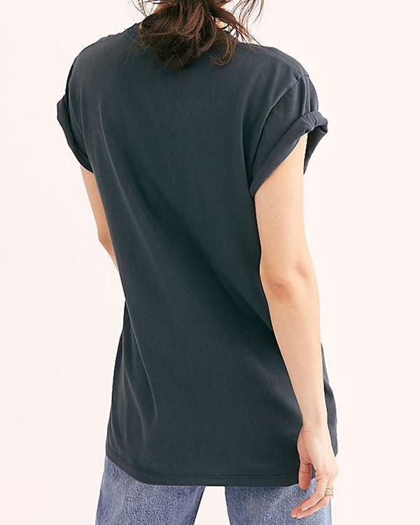 Vintage Printed Casual Tops T-shirts