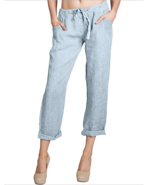 Women Line Casual Loose Pants
