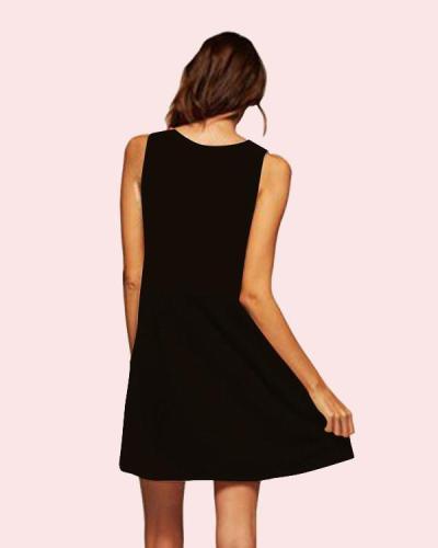 Summer Boho Printed Sleeveless Beach Dress