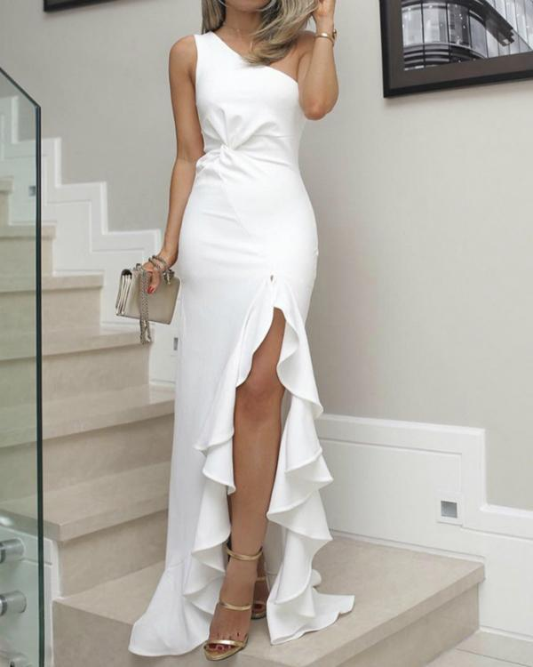 Women Fashion Knotted Sheath Dress