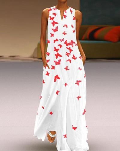 Women Sleeveless Basic Summer Beach Maxi Dress