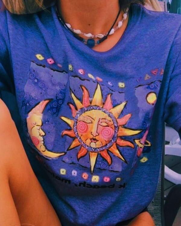 Fashion Sun Printed Crop Top