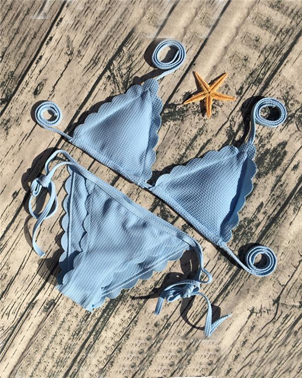 Sexy lace Solid Color Bikini