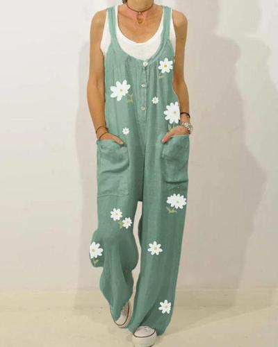 women's Floral Print Strapless Jumpsuit
