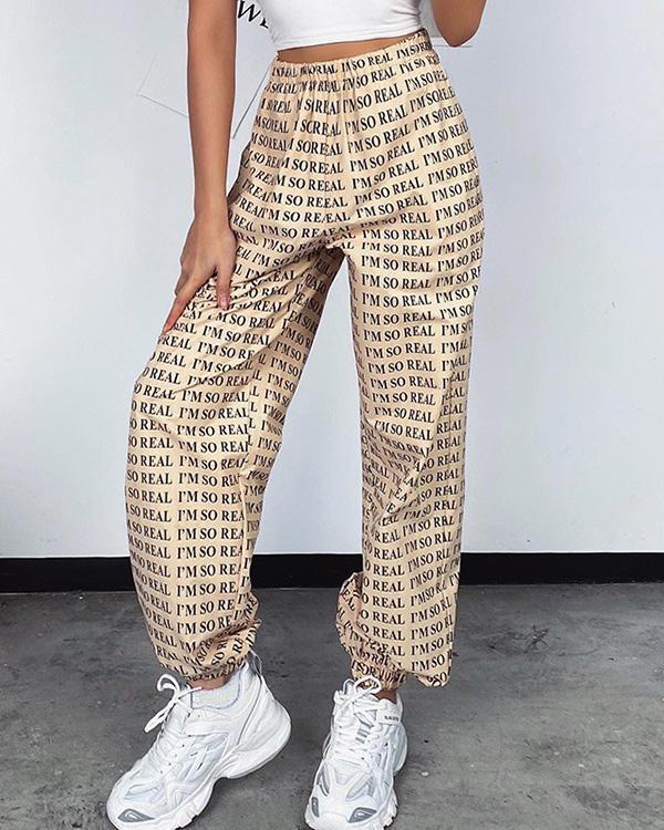 Women's Casual Loose Low Waist Sports Pants