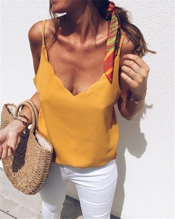 Holiday Sleeveless Women Summer Vacation Vest Tops