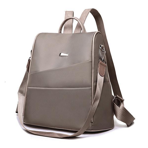 Women Anti-theft Backpack Oxford Solid Multi-function Shoulder Bag