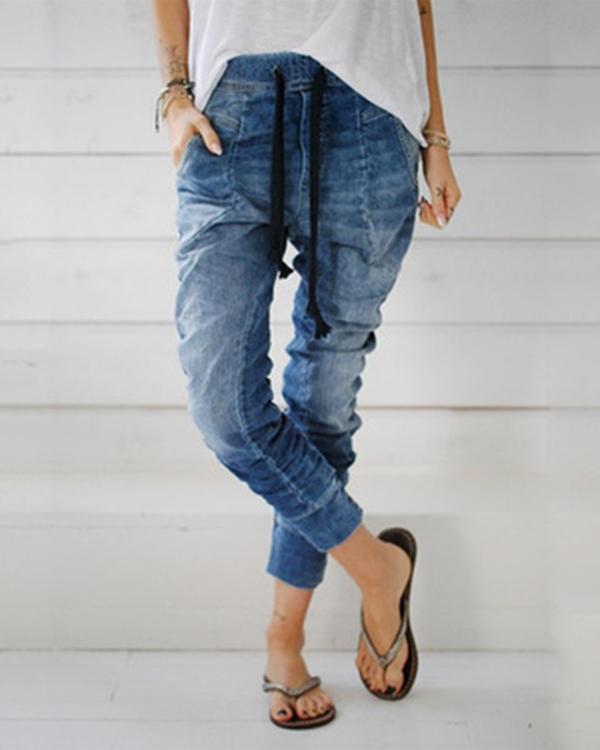 Women's  Vintage Fashion Denim Jeans Pants