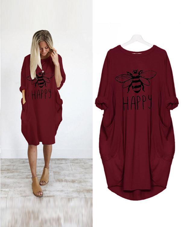 Women Printed Pockets Casual Summer Spring Dresses