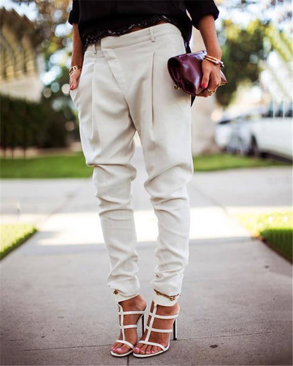 Harlan Fashion Casual Overall Bottoms Skinny Stylish Pants