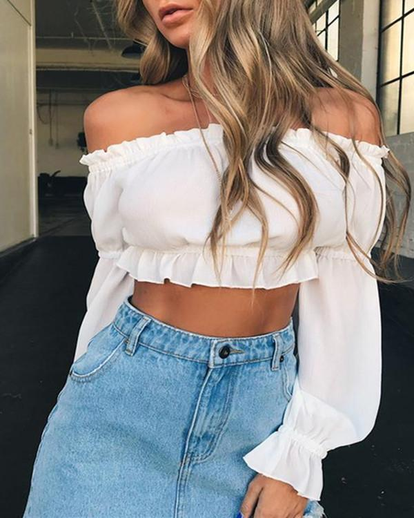 Womens Off Shoulder Stylish Tops Blouses