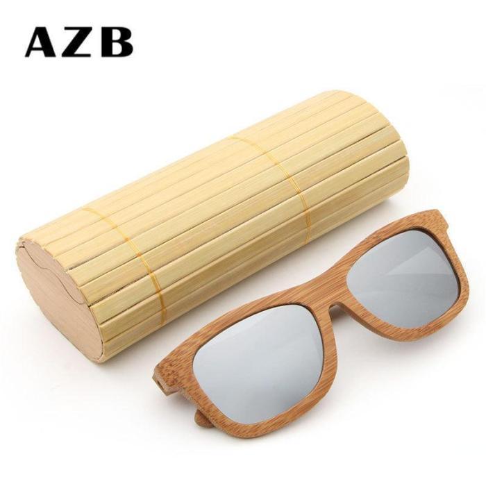 Wild Unisex Polarized Bamboo Frame Sun Glasses
