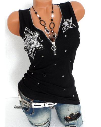 Women's Punk & Gothic Deep V Plus Size Slim T-shirt