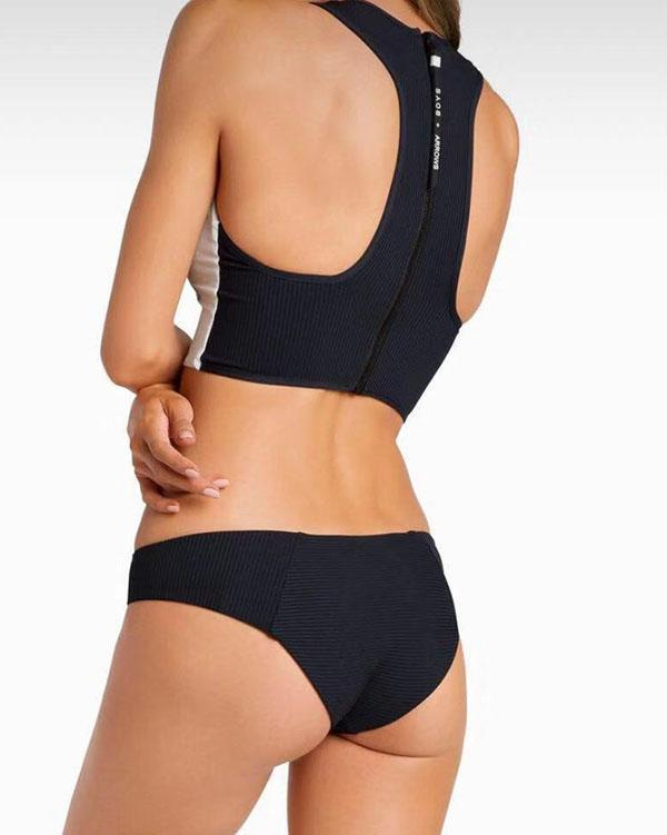 Tiger Print Sexy Zipper Bikini