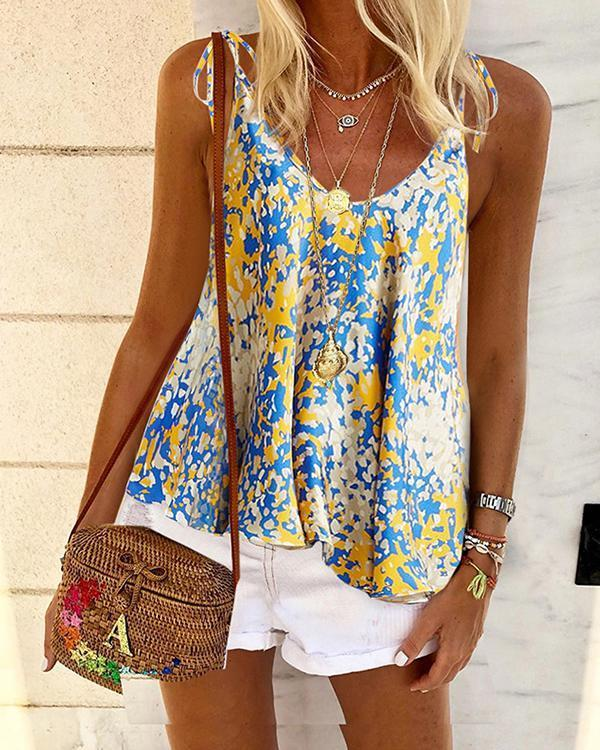 Printed Floral Casual V Neck Shirts Boho Tops