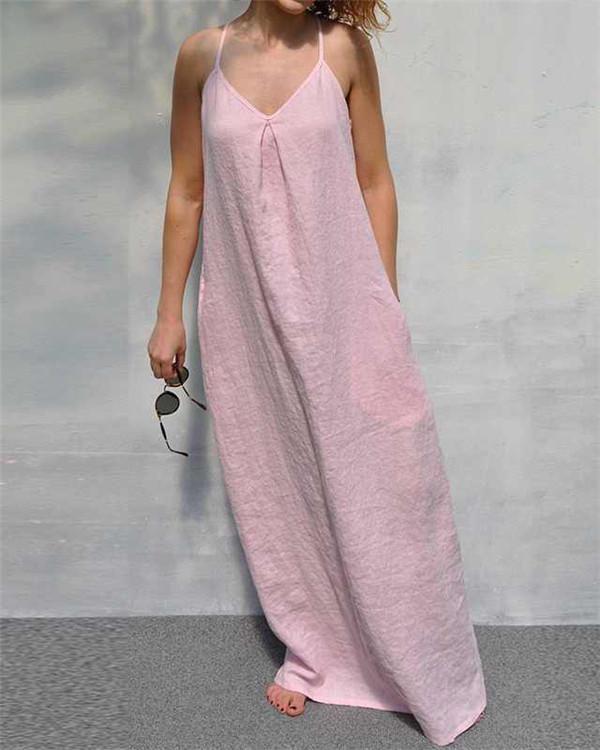 Casual Summer Sleeveless Vacation Dress