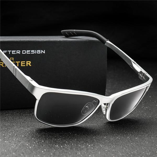 AluminumPolarized Fashion Vintage Pilot Sun Glasses With Box