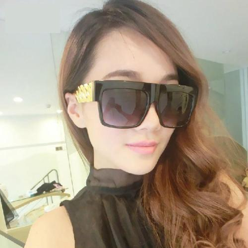 Hip Hop Gold Chain Shape Sunglasses