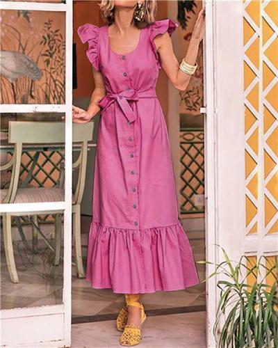 Sleeveless Beach Holiday Elegant Women Fashion Maxi Dresses