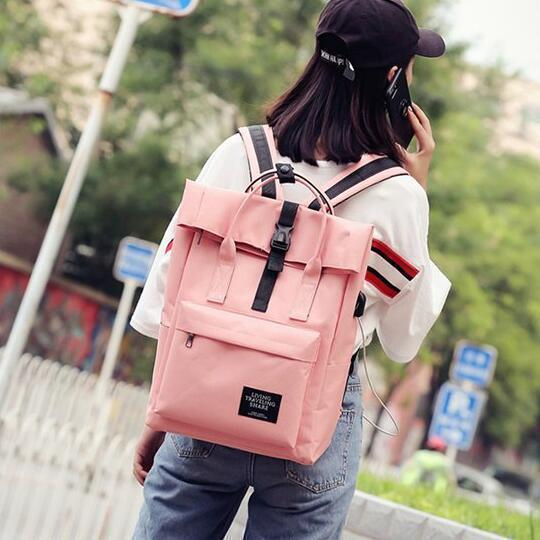 Canvas Large-capacity Backpack