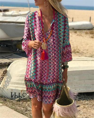 Bohemian Holiday Daily Fashion Mini Dresses