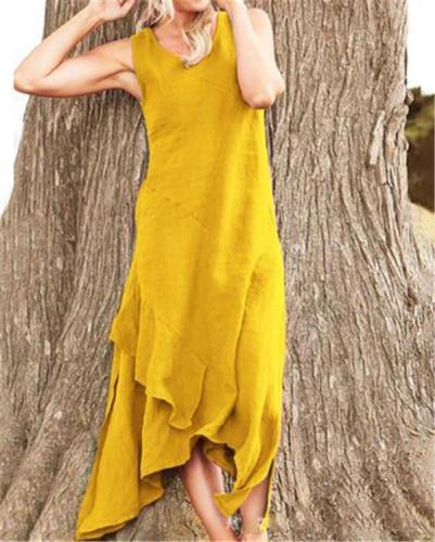 Sleeveless Solid Holiday Daily Fashion Maxi Dresses