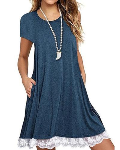 Women Casual V Neck Daytime Summer Dress