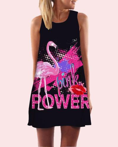 Women Printed Sleeveless Beach Dress