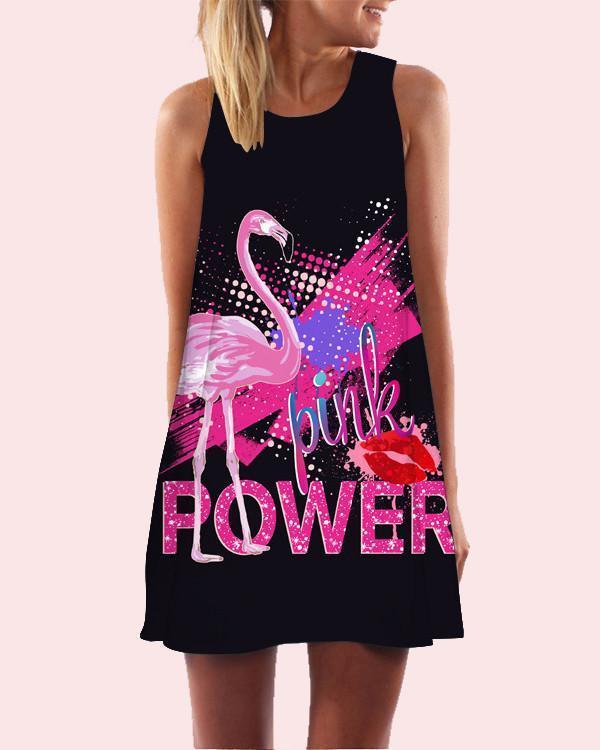 Women Printed Sleeveless Beach Dress