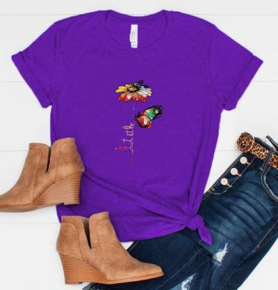 Women Floral  Printed O-Neck Shirts