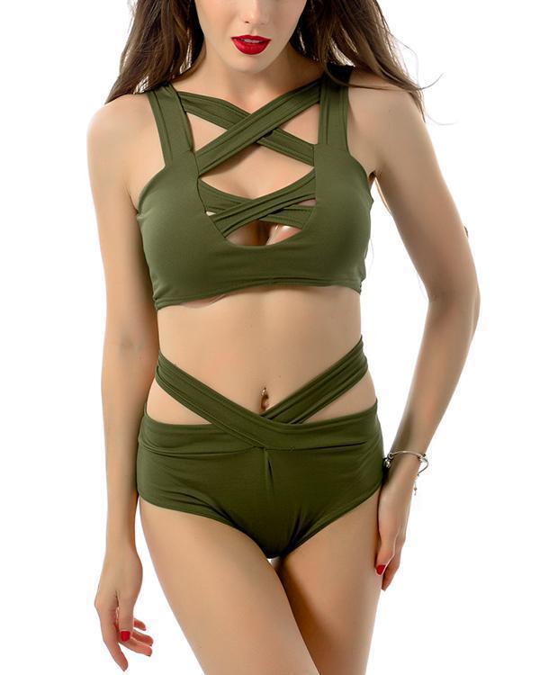 Sexy Split Swimsuit Cutout Bikini