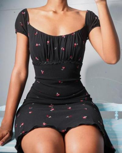 French Elegant Lady Sexy Dress