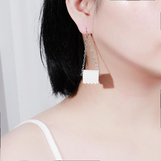 Creative Toilet Paper Earrings Necklace