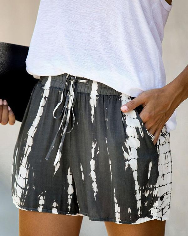 Holiday Cotton-Blend Tie Dye Pants