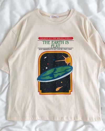 Round Neck Short Sleeve Pattern T-Shirt