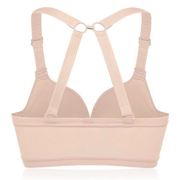 E Cup Front Closure Wireless Soft Criss-cross Strap Bras