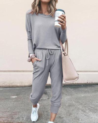 2 Peice Set Women Elegant Pants Sets Female Casual Outfits Jogger