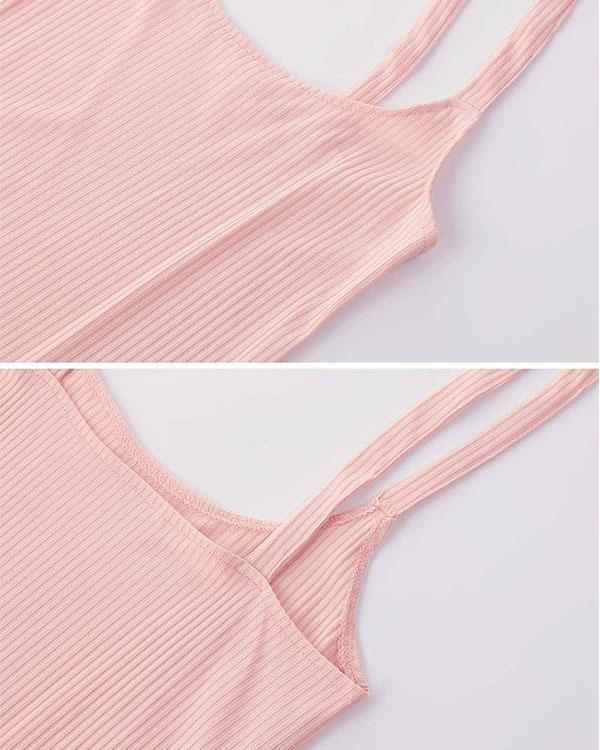 Bodycon Shoulder Straps High Waist Overall Skirt Suspender Skirt