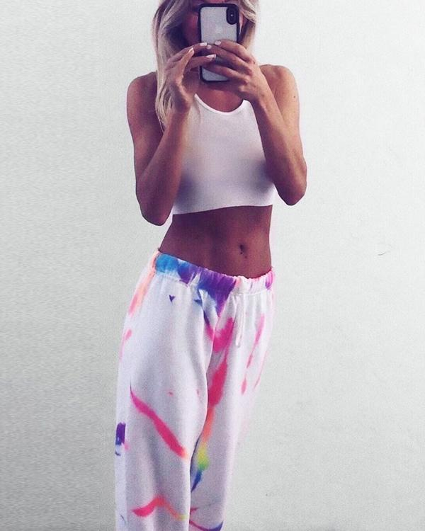 Fashion Sexy Printed Leisure Trousers Pants