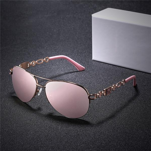 Lady Elegant Fashion Eyes Protector Sunglasses Eyewear With Box
