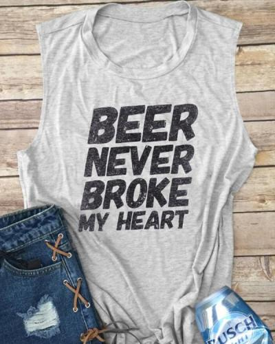 Letter Print Summer Casual Tank