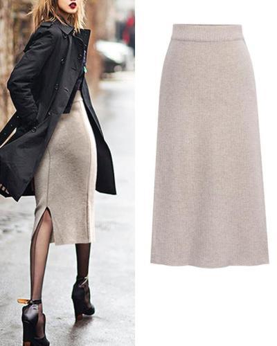 Fall Bodycon High Waist Solid Maxi Dress