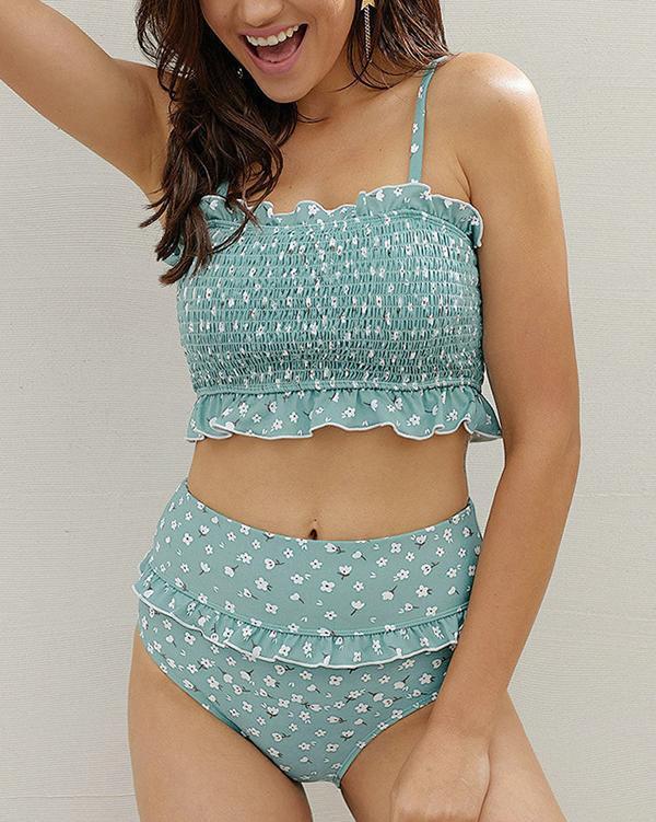 Removable Camisole Bikini Set