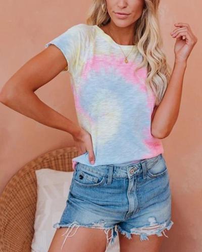 Fashion Tie Dye Slim T-Shirts