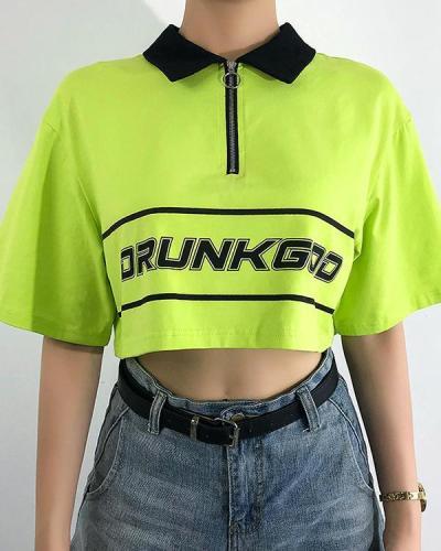 Fashion Casual Printed Short Sleeve T-Shirt Top